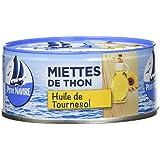 Petit Navire Miettes de Thon à l'Huile de Tournesol 160 g - Lot de 8