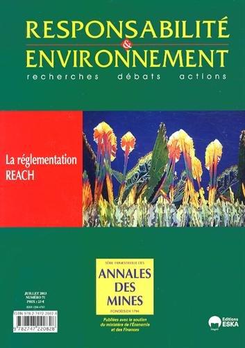 Responsabilité & environnement, N° 71, Juillet 2013 : La réglementation REACH