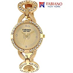 Fabiano New York Gold Analog Womens & Girls Wrist Watch