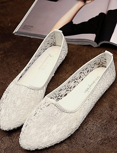 ZQ Scarpe Donna - Mocassini - Tempo libero / Casual - Comoda / A punta - Piatto - Sintetico - Nero / Bianco , white-us8.5 / eu39 / uk6.5 / cn40 , white-us8.5 / eu39 / uk6.5 / cn40 white-us8.5 / eu39 / uk6.5 / cn40
