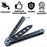 undub Legaler Butterfly Trainer - Balisong Knife zum Üben - Knife aus Stahl - Übungsmesser