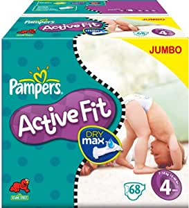 Pampers Active Fit Nappies Size 4 Maxi 2 X Jumbo Packs Of