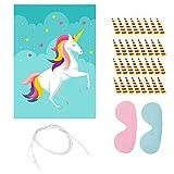 Huixing Coloca el Cuerno en el Unicornio Juego para Fiesta, Unicornio Favores de Fiesta Juegos Incluye Grande Unicornio Póster