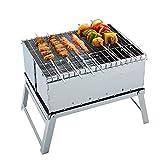 Mini extérieure pliante inox barbecue grill barbecue grill charbon de bois...