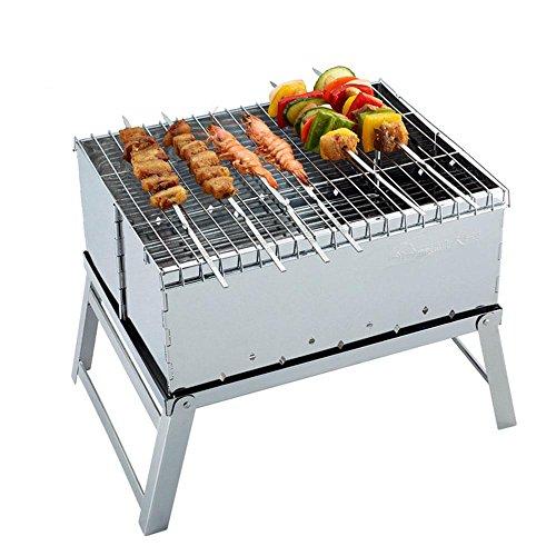 Mini horno al aire libre plegable acero inoxidable barbacoa parrilla barbacoa parrilla de carbón de leña Barbacoa ardiente enviar bolso de Oxford , 40.4x26.5x29