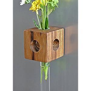 Magnetvase Zebrano Blumenvase Test Tube Vase