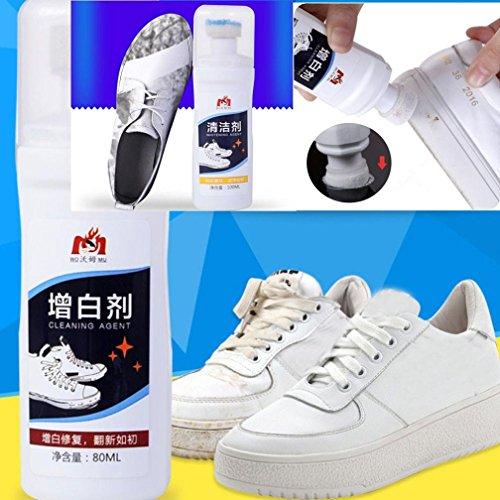 sunnymi Hochwertige Kleine weiße Schuhe Dekontamination Trendy Aufheller Oberteil Komplement Farbe Schuhe (Kleine Toaster Konvektion Ofen)