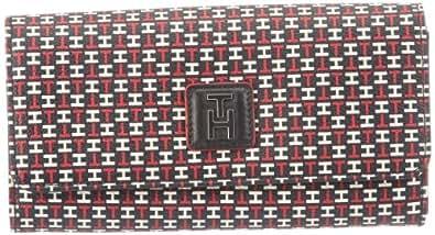 Tommy Hilfiger HANNAH E/W LARGE WALLET BW56921159, Damen Geldbörsen, Rot (TH PRINT 073), 20x11x3 cm (B x H x T)