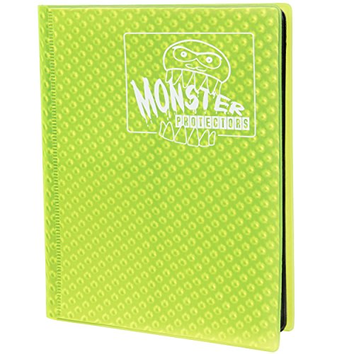 Monster Protectors Monsterkarten Binder 4 Pocket Album gelbe sammeln hält 160 Yugioh, Magic und Pokemon Karten