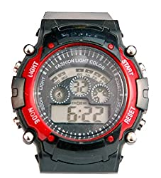 Surya Sporty Look Digital Black Dial watch for Kids in Red color -SS01