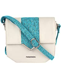 Veuza Berlin Premium Jacquard And Faux Leather Sling Bag