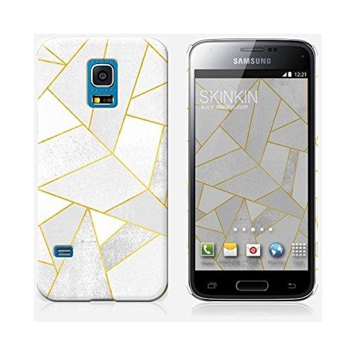 Coque iPhone 5 et 5S de chez Skinkin - Design original : White stone with gold lines par Elisabeth Fredriksson Coque Samsung Galaxy S5 mini