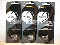 3 packets White 2 Black Extreme Advanced Black Bronzers .5oz by 47krate