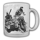 Tasse Krad kaffebecher Wh Militär Soldat Gespann Afrika R75 KS750 Seitenwagen Geländemotorrad#22070