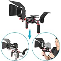 Neewer 10089989 Kit Sistema Rig Film-Maker Cámara Vídeo Cine Estándar 15mm, Caja Mate(rojo y negro)