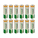 DGD 12 pcs AA LR06 3000mAh 1.2V NI-MH Replacement Battery Cell RC BTY New-Green??
