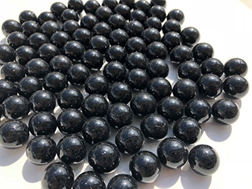 Plata Negra wh846bolas de cristal, 16mm de diámetro 500gr–Bolas Transparente Negra Silberne Marmota claras Deko bolas de cristal Decoración Cristal bolitas de Crystal King