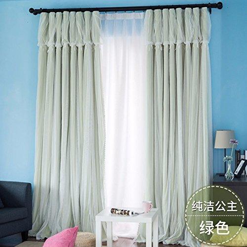 Tende principessa vento tendine di pizzo trasparente finestra sipario puro salotto camera balcone,a,100 x 270 cm (w x h) x 2