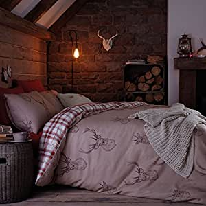 Catherine Lansfield Stag Double Duvet Set - Multi