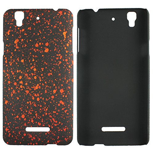 Heartly Night Sky Glitter Star 3D Printed Design Retro Color Armor Hard Bumper Back Case Cover For Micromax Yu Yureka Cyanogenmod - Vintage Orange