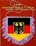 Wimpel Deutschland mit Wappen , 5 Eck 9x10cm