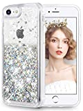 wlooo Coque pour iPhone 6/6s/7/8, iPhone 7 Coque, iPhone 8 Silicone Coque, Glitter...