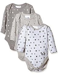 Twins Body U, Langarm - 3er-Pack - Body  para niños, Multicolor (micro chip 144105)