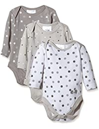 Twins Body U, Langarm - 3er-Pack - Body  para niños, Multicolor (micro chip 144105)