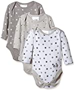 Twins Unisex Baby Langarm-Body im 3er Pack, Gr. 50, Mehrfarbig (Micro Chip 144105)