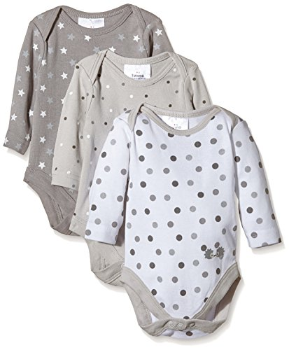 Twins - Body para bebés (Pack de 3), Multicolor (micro chip 144105),