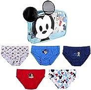 ARTESANÍA CERDÁ Bragas de algodón para niños con diseño de Mickey Mouse, juego de 5 y 6 piezas, de 2 a 6 años