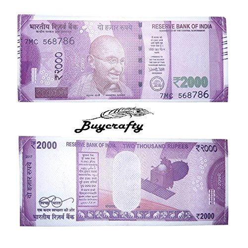 buycrafty indischen New 2000Rupie Note Währung Falttür Leinwand Wallet New Design (Währung Indische)