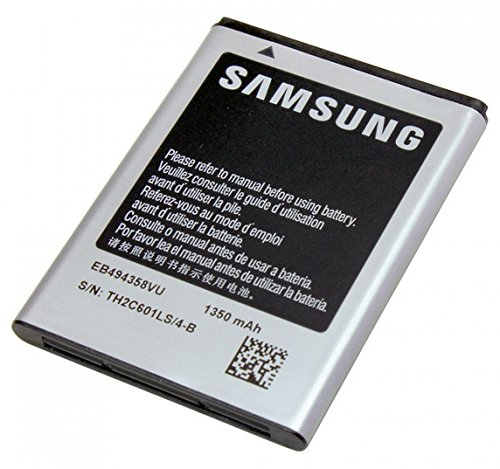 Samsung Li-Ion, 1350mAh - rechargeable batteries (1350mAh, Lithium-Ion, Navigator/Handheld mobile computer/Mobile phone, Grey, Samsung S5660 Galaxy Gio, B7300, B7510 Galaxy Pro, B7800 Galaxy M Pro, S5670 Galaxy Fit, S5830 ACE)