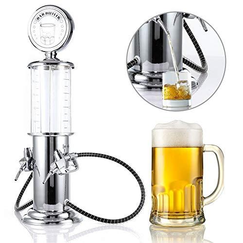 Casavidas NORBI - Dispensador de cerveza con doble bomba y barra de gas transparente para beber (porcelana)