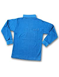 Kid's Care High Neck Full Sleeves T-Shirt(Blue)