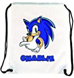 Sonic the Hedgehog Personalised Gym/Sports/PE/Dance/School/Nursery Bag