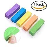 Nagelfeilen Nagel Shiner Buffer 4-seitig Set Nagel Werkzeuge Nail Art Schleifen Buffer Dateien Block Polieren Werkzeug Nagel Polierer für Haus und Salon Verwendung Pack 5