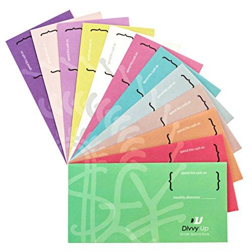 Divvy Up Budgetierung von Umschlägen für Ihr Geld 12 stilvolle Farben -