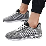 Men's Casual Shoes Air Cushion Sport Mesh Lace-up Non-slip Round Toe Sneakers