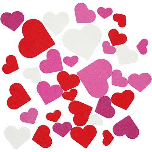 corazones de goma EVA, medidas 20-45 mm, grosor 2 mm, Surtido de color