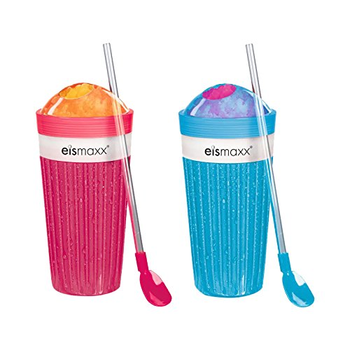 TV Unser Original 02175 eismaxx Slush Ice Becher 2-er Set, rot/blau