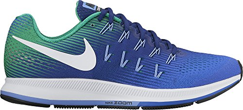 Nike Air Zoom Pegasus 33, Scarpe da Corsa Uomo Medium Blue/White-Deep Night-Black