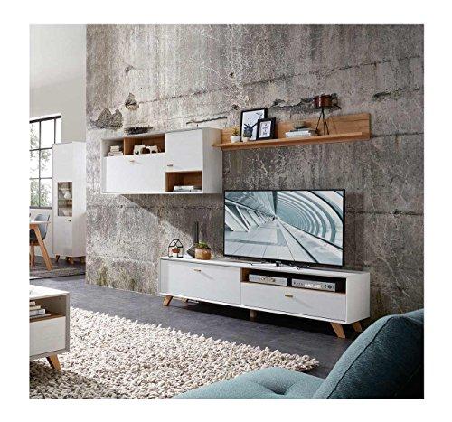 Wohnzimmerschrank modern for Anbauwand modern wohnwand