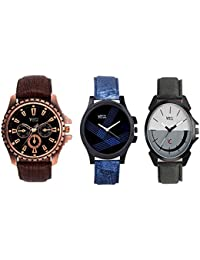 YOUTH CLUB Analogue Multi-Colour Dial Men's Combo Of Watch(149456)