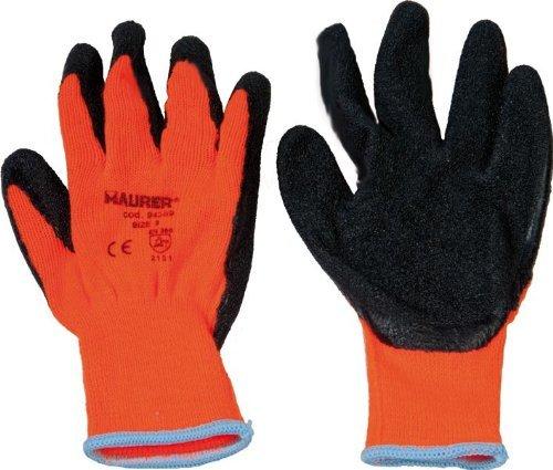 e'tirement des gants de latex acrylique dos rembourre' TG9 PZ1