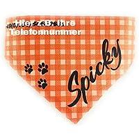 Hunde und Katzen Halstuch mit Wunschname oder Wunschtext