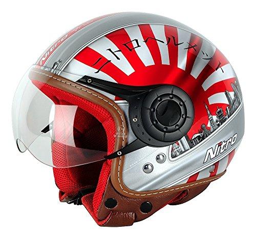 Nitro Herren Helm, Weiß/Rot/Schwarz, XS