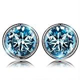 6be11d1e9f6d Susan Y Blue Stud Earrings para mujer regalos del día de madres para mamá  mujeres niñas cristal de swarovski joyería de moda fina regalos de  cumpleaños para ...