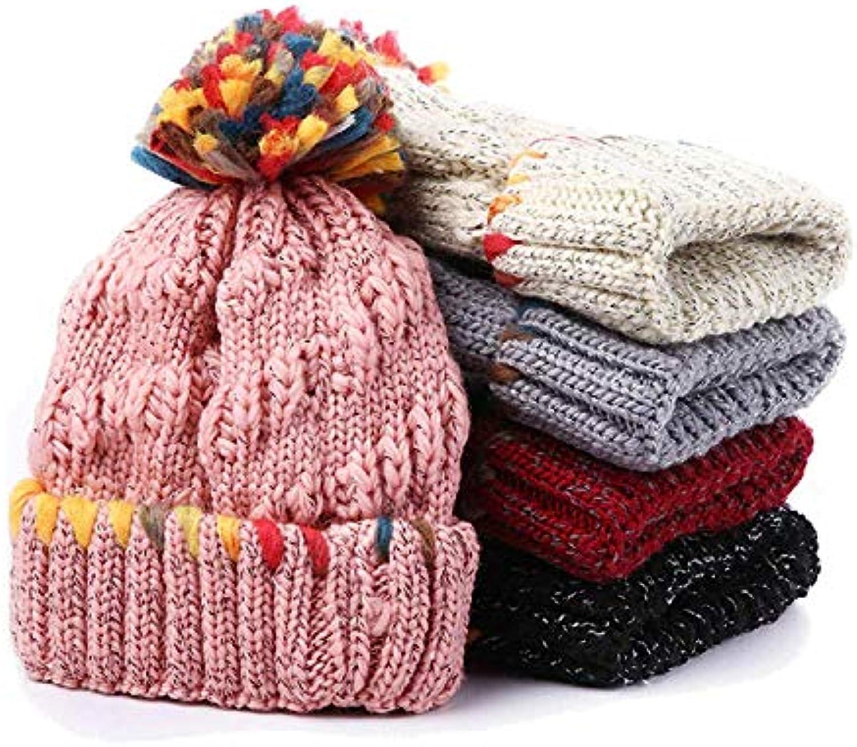 Knitted Hat Home Cappello in Lana Cappello Caldo per Righe Capelli ... df7e84f7086e