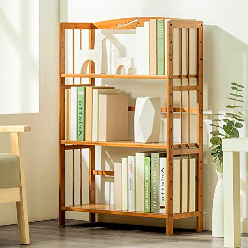 Kitchen furniture - Support de stockage moderne simple, support multi-couches, bibliothèque en bambou au sol réglable WXP (taille : 70X25X98CM)